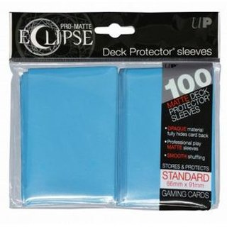 UP - Standard Sleeves - PRO-Matte Eclipse - Sky Blue (100 Sleeves)