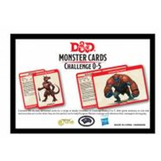 D&D Monster Card Deck Levels 0-5 (195) - EN