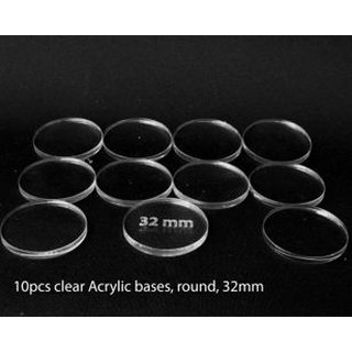 Acrylic Base - Round 32mm (10 Pcs)