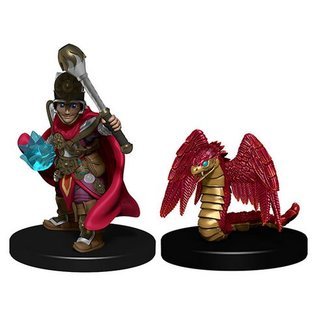 WizKids Wardlings Painted Miniatures: Boy Cleric & Winged Snake